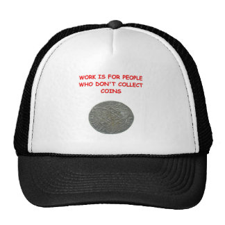 coin collecting trucker hats