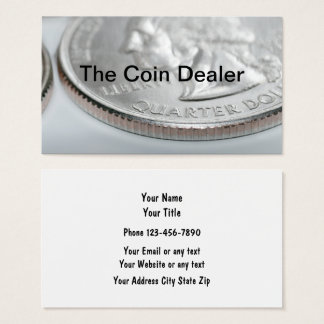 Coin Collector And Dealer Business Card