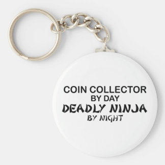 Coin Collector Deadly Ninja by Night Basic Round Button Key Ring