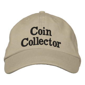 Coin Collector Hat Tan color Adjustable Size.