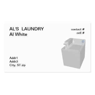 coin operated washing machine business card template