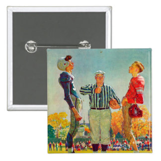 Coin Toss by Norman Rockwell 15 Cm Square Badge
