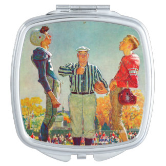 Coin Toss by Norman Rockwell Compact Mirrors