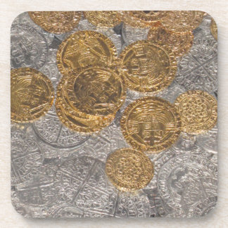 Coin Treaure Drink Coasters