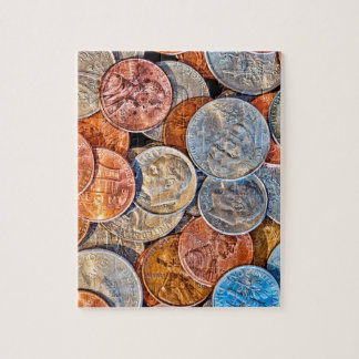 Coined Currency Jigsaw Puzzle