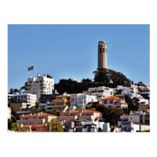 Coit Tower On Telegraph Hill In San Francisco Take Postcard