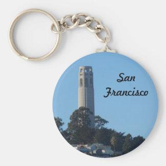 Coit Tower- San Francisco Basic Round Button Key Ring