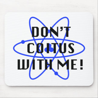 Coitus with me PURPLE ATOM Mouse Pad