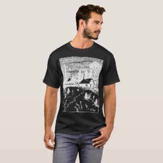 Colby Farm Inverse Illustration T-Shirt. T-Shirt