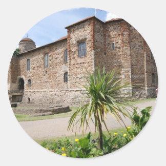 Colchester Castle Classic Round Sticker