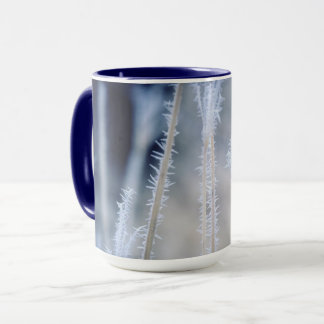 Cold a winter frost on coffee mug