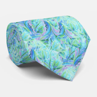 Cold abstract floral elements seamless pattern tie