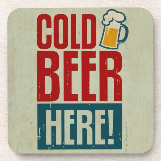 Cold Beer Drink Coasters Zazzle