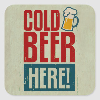 Cold Beer Square Sticker