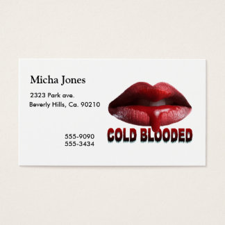 Cold Blooded Lips Business Card