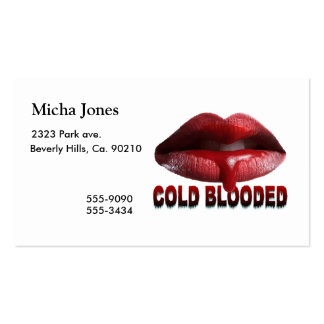 Cold Blooded Lips Pack Of Standard Business Cards