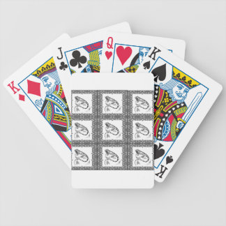 cold blooded lizard yeah bicycle playing cards