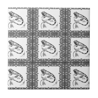 cold blooded lizard yeah ceramic tile