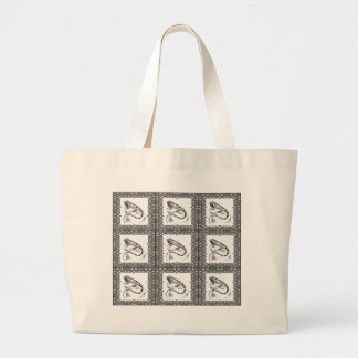 cold blooded lizard yeah large tote bag