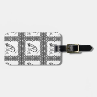 cold blooded lizard yeah luggage tag