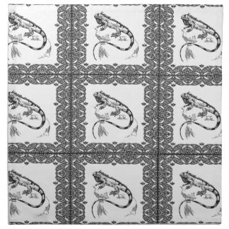cold blooded lizard yeah napkin
