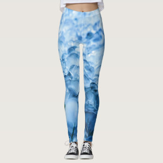 Cold blue ice crystal during winter leggings