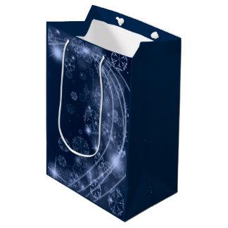 Cold Blue Winter Medium Gift Bag