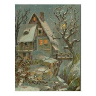 Cold Christmas Night Postcard