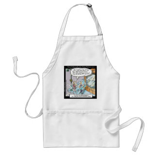 Cold Clean Hands W/Guns Funny Gifts & Tees Adult Apron