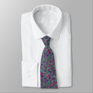 Cold Colored Tiles Tie