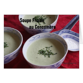 Cold Cucumber Soup Card
