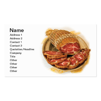 Cold cuts business card template