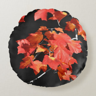 Cold Fall Round Pillow