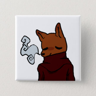Cold Fox (2 Inch Square Button) 15 Cm Square Badge