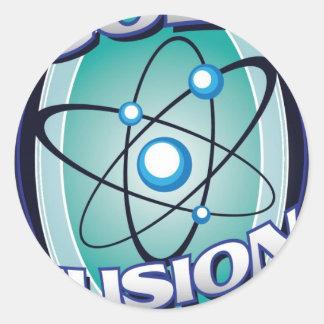 Cold Fusion Brewing Round Sticker