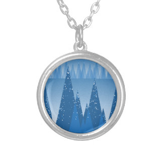 Cold In the Forest Silver Plated Necklace