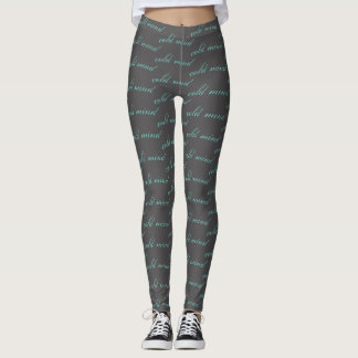 Cold mind leggings gray and blue