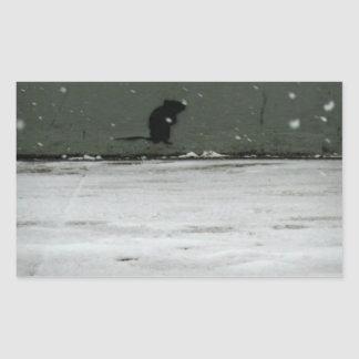 Cold NYC Winter Rectangular Sticker