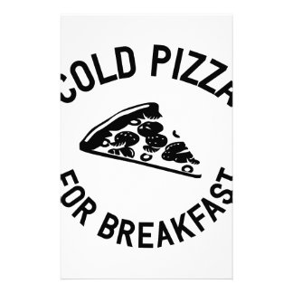 Cold Pizza for Breakfast Stationery