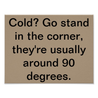 Cold? Poster