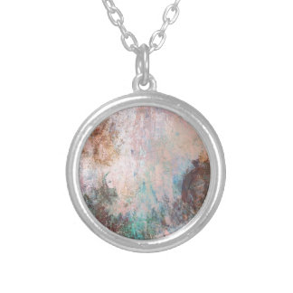 Cold Stone Abstract Silver Plated Necklace