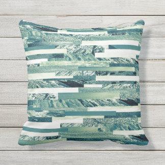 Cold tone ocean theme outdoor cushion