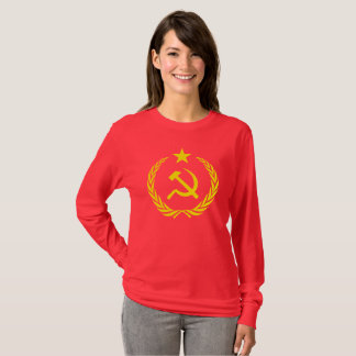 Cold War Communis Flag Women's Long Sleeve T-Shirt