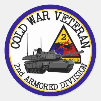 Cold War Veteran Classic Round Sticker