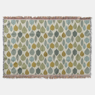 Cold Weather Leaves Pattern Throw Blanket