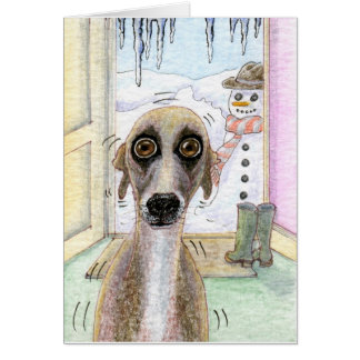 whippet christmas cards 2018