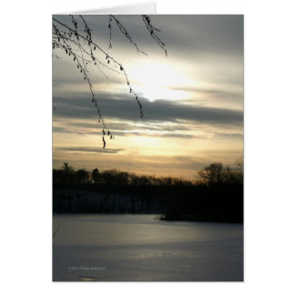 Cold Winter Afternoon Greeting Card