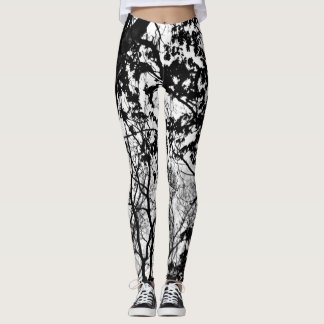 Cold winter camo pattern leggings