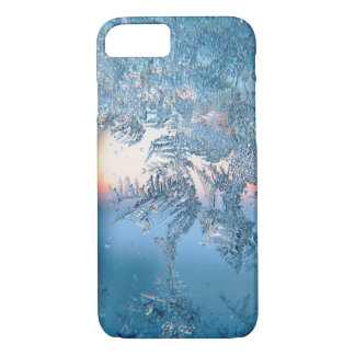 Cold Winter Frosted Glass Ice Crystals iPhone 7 Case