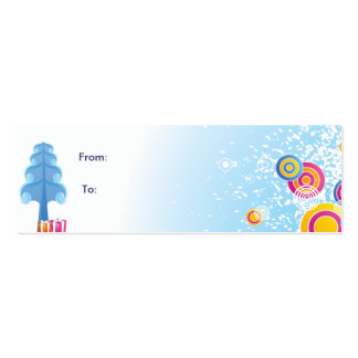 Cold Winter Gift tag Business Cards
